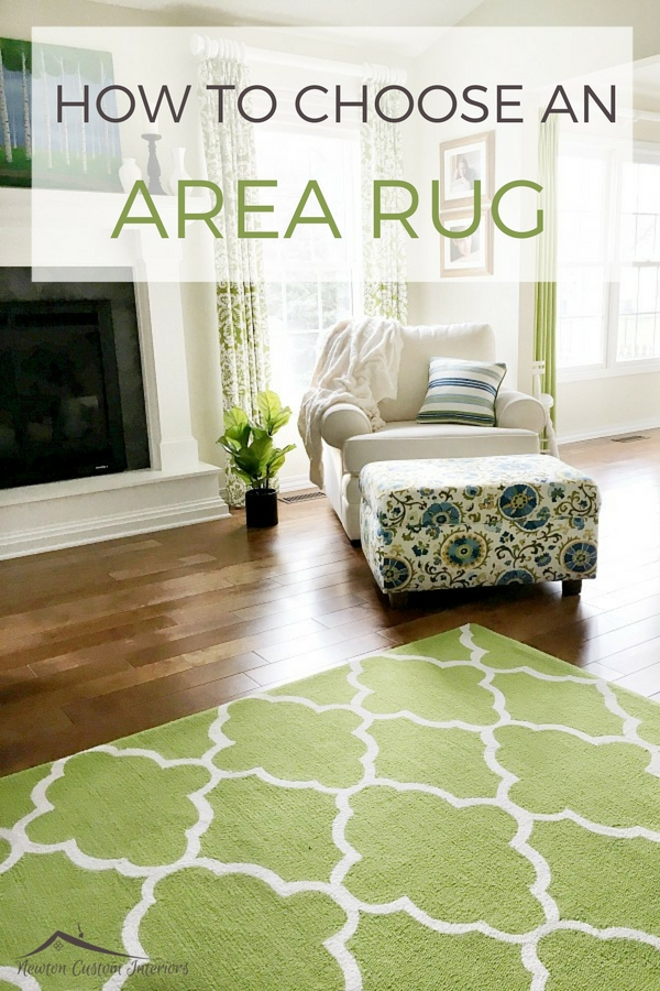 Learn how to choose large area rugs for your home! You'll learn everything from how to coordinate the rug with your decor to finding the right size!