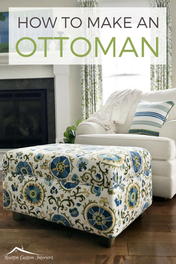 Learn how to make an ottoman with this detailed video tutorial! Now you can make your own ottoman in the fabrics that you love!