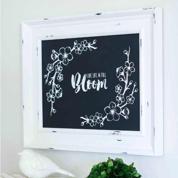 Chalk Couture Bloom transfer and Aiden Chalkboard that come in the starter kit.