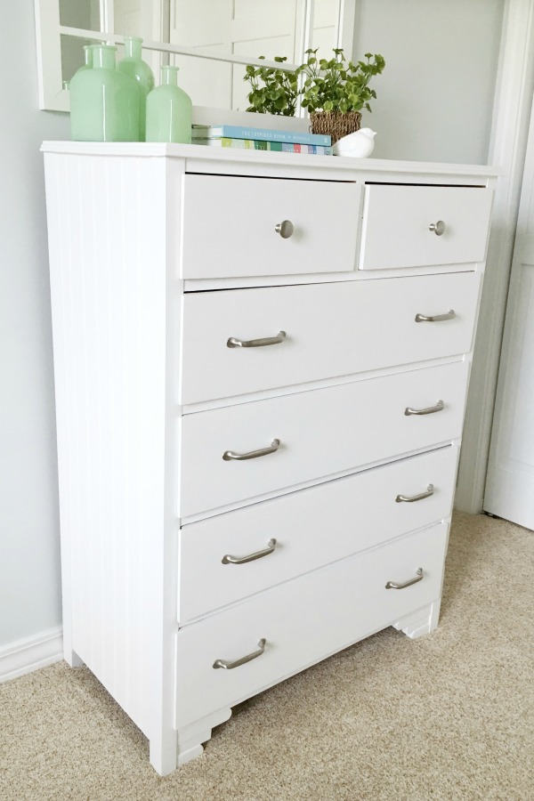 Dresser painted white