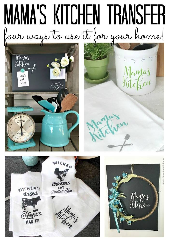 Chalk Couture Mama's Kitchen transfer is so versatile, you can use it in so many cute ways!