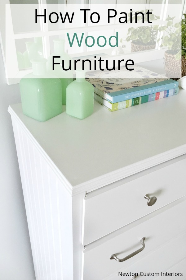 How To Paint Wood Furniture - Tips for getting a smooth finish!