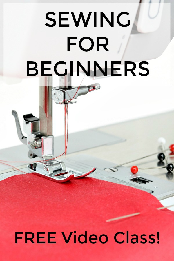 Sewing for beginners free video class!