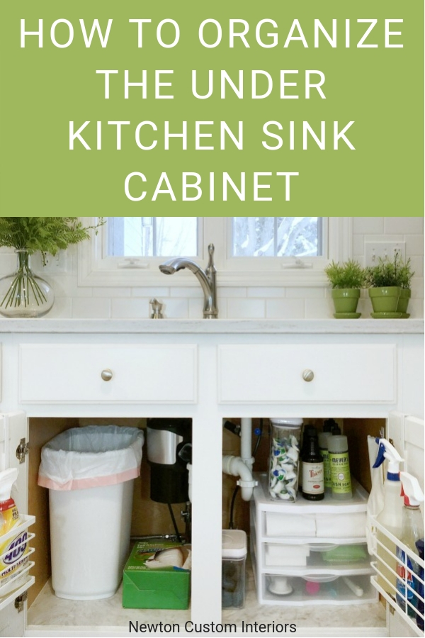 How to organize under kitchen sink cabinet