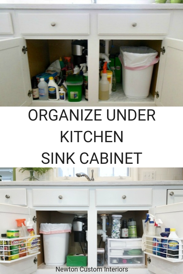 How to organize the under kitchen sink cabinet