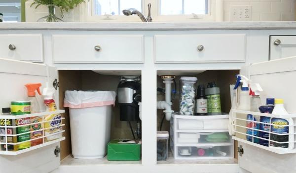 How To Organize Under Kitchen Sink Cabinet Newton Custom Interiors