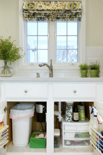 How To Organize Under Kitchen Sink Cabinet
