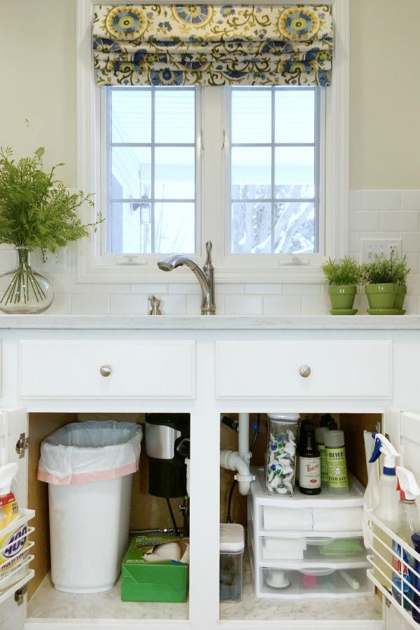 How To Organize Under Kitchen Sink Cabinet - Newton Custom ...
