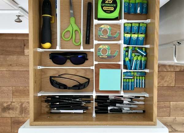 Kitchen drawer organizer system in place!