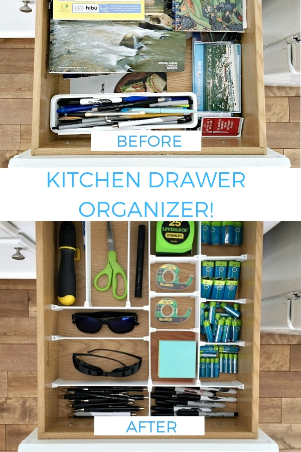 This kitchen drawer organizer system is so easy to use! Create a kitchen drawer organizer that exactly fits your drawers! No woodworking involved! #newtoncustominteriors #kitchendrawerorganizer #drawerorganizer