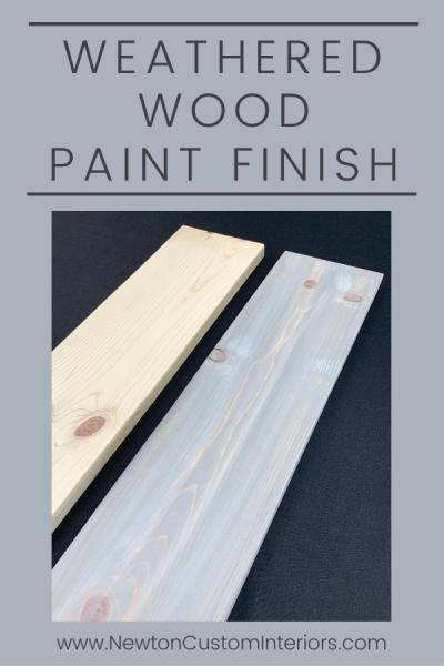 Weathered Wood Paint Finish